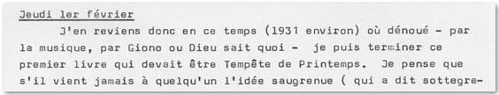 Extrait Journal d'Al Sola de Jean Proal