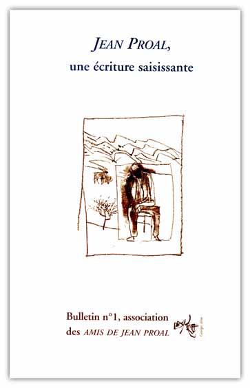 Bulletin n°1 de l'association des Amis de Jean Proal